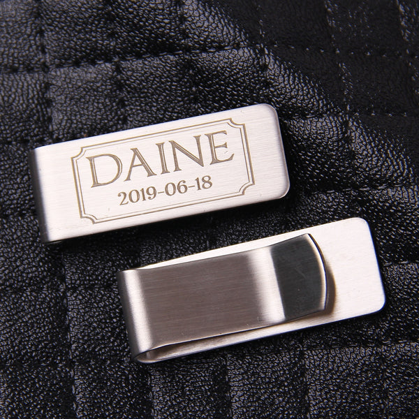 Personalized Money Clip, Money clips for men, Double sided money clip, - kov-well