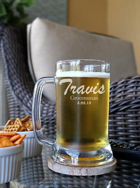 Groomsmen Gifts, Groomsmen Beer Mug, Gift For Groomsmen, Groomsmen Glasses, - kov-well