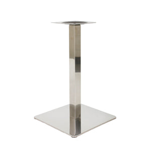 bistro chrome square base