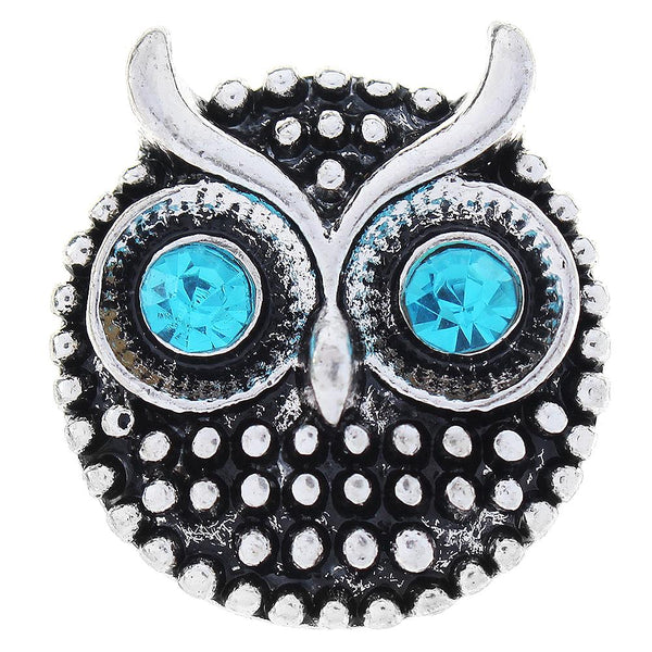 Black Animal Owl Sandy Snap Button GJS1041