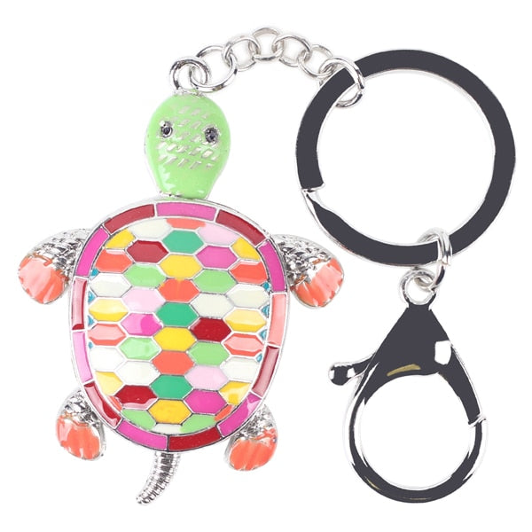 Enamel Alloy Metal Tortoise Key Chain
