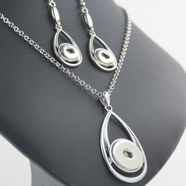 Sandy Snap Necklace and Earrings Takes 12mm NE320