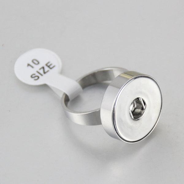 Sandy Snap Stainless Steel Ring 18MM R269