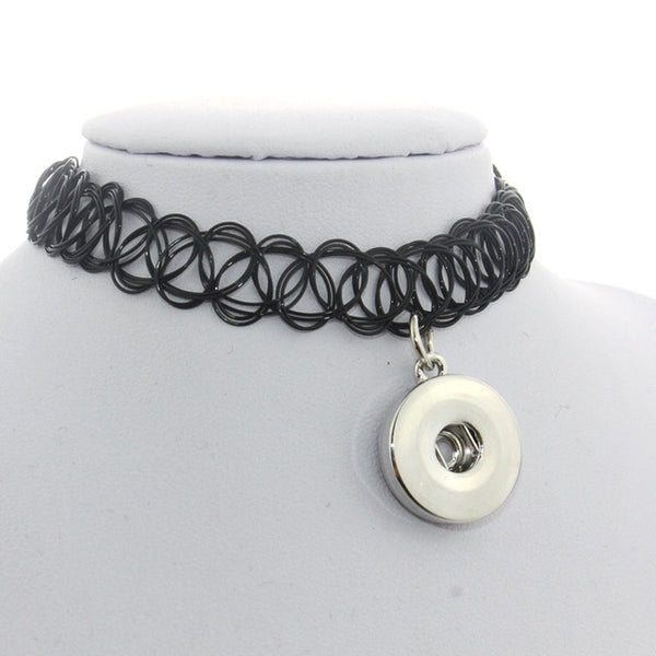 Sandy Snap Choker Vintage Style Stretch Tattoo Necklace Style