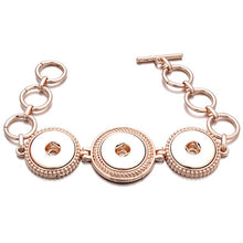 Vintage Rose Gold Three Snap Sandy Snap Bracelet