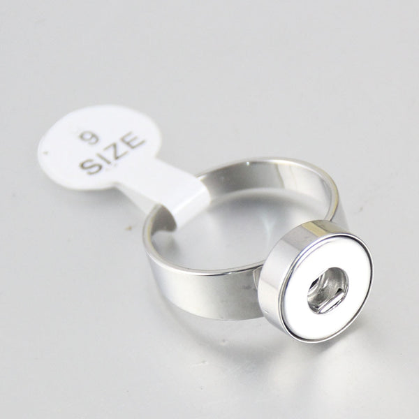 Sandy Snap Stainless Steel Vintage Ring fits 12mm metal  snap R268