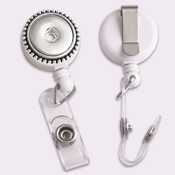 Badge Reel ID Holder, Retractable Sandy Snap Lanyard