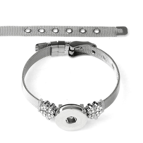 New Stainless Steel Charms on Sandy Snap Bracelet