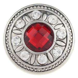 Red Crystal Sandy Snap Button