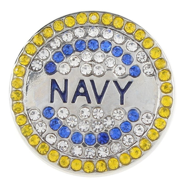 Armed Forces, Army, Navy, Air Force, Marines Bling Sandy Snap Buttons