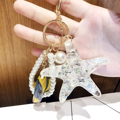 Fancy Starfish Sea Life Keychain Or Handbag Hanger