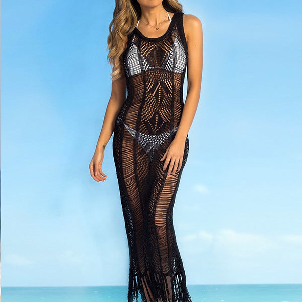 New Sexy Black Beach Cover Up