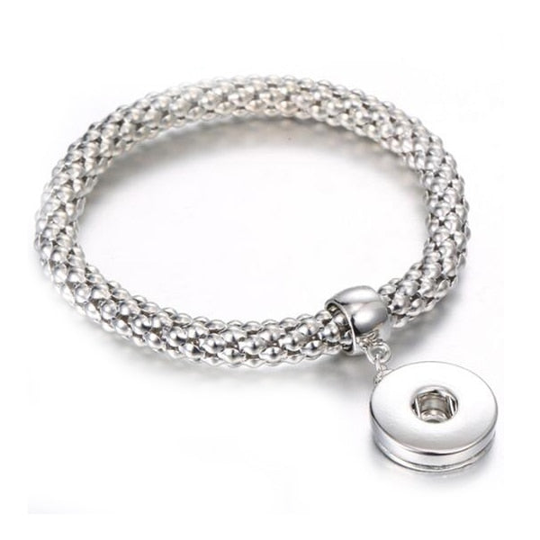 New Gold-Silver Sandy Snap Bracelet 18MM Bracelet