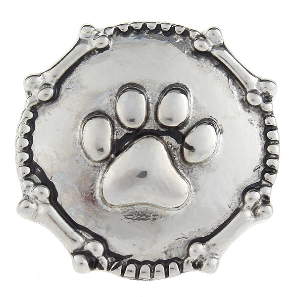 Animal Dog Or Cat Footprint Sandy Snap Button