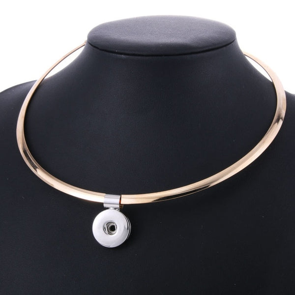 Sandy Snap Choker Style Necklace