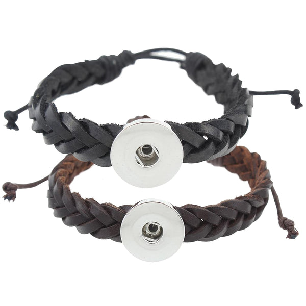 Leather Sandy Snap Bracelet GJB8528