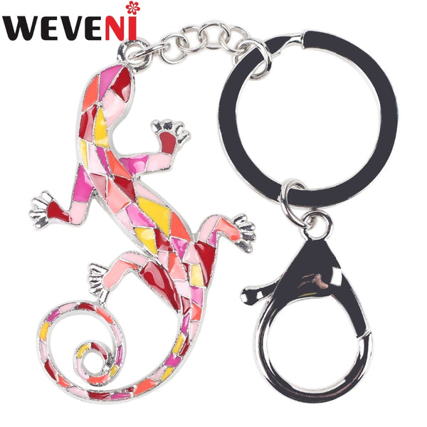 Lizard Gecko Key Chain Key Ring Bijoux Bag Charm Unique Keychain