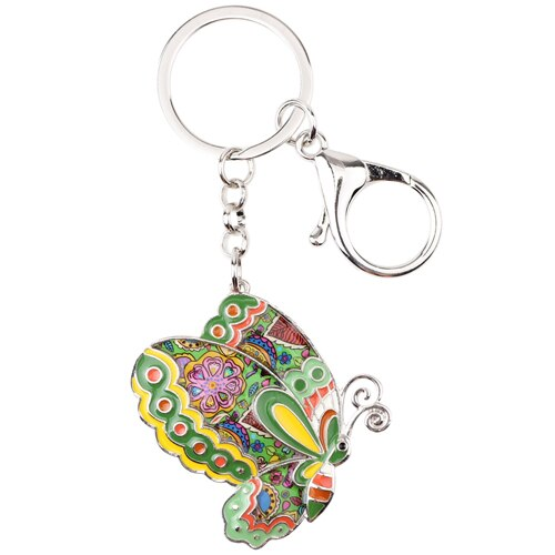 Enamel Butterfly Key Chain