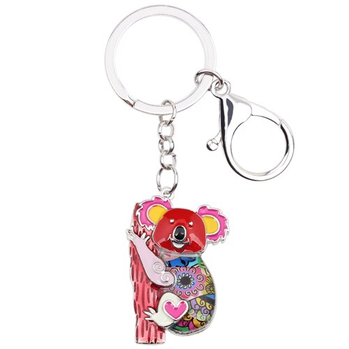 Enamel Australia Koala Bear Key Chains