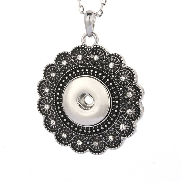 Sandy Snap Jewelry Crystal Necklace Pendant