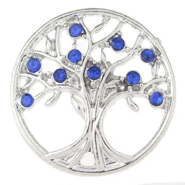 18-20mm Metal Tree of Life Sandy Snap Button GJS4853