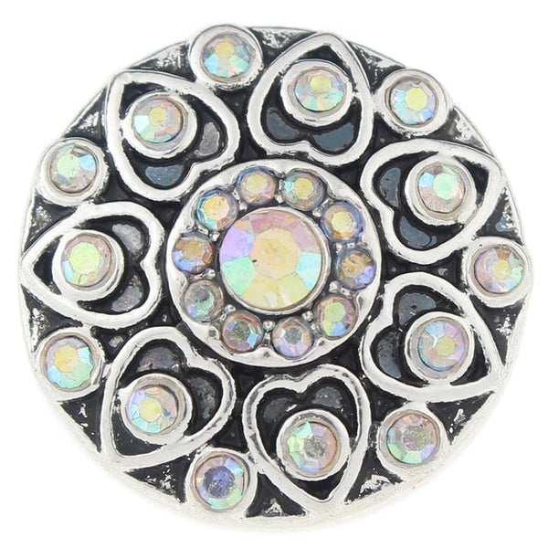 18mm-20mm Metal Flower Style Sandy Snap Buttons