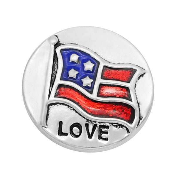 Patriotic USA Flag Sandy Snap Buttons