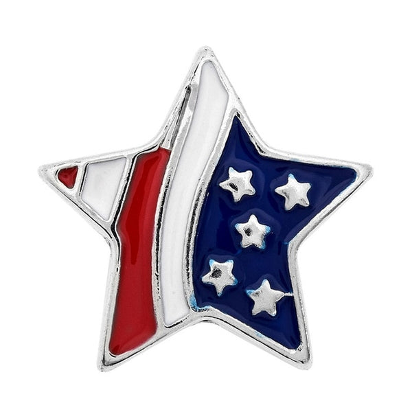 Patriotic USA Flag Star Sandy Snap Buttons