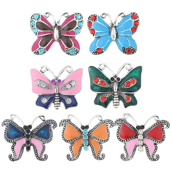 Metal Enamel Butterfly Sandy Snap Button