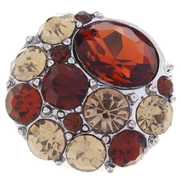 Brown Crystal Sandy Snap Button
