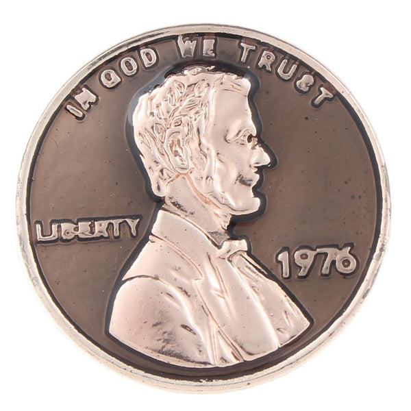 Designed after the US Penny Sandy Snap Button