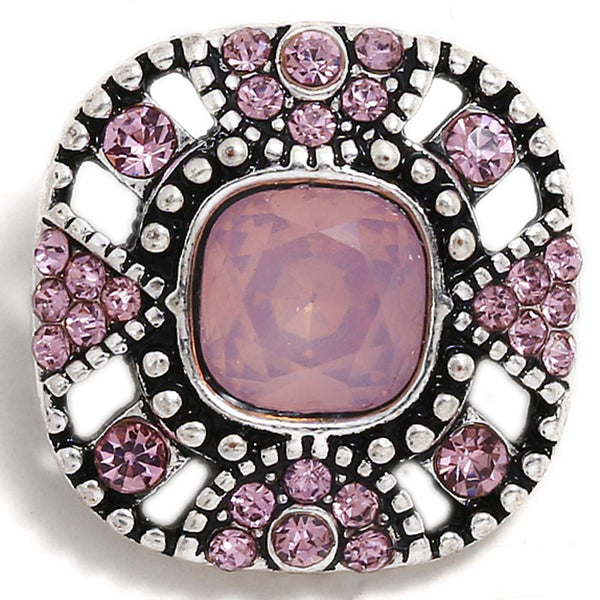 Pinkish Purple With White Insets Sandy Snap Button