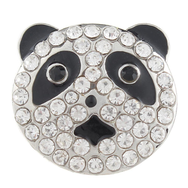 Panda Bling-Bling Sandy Snaps Button