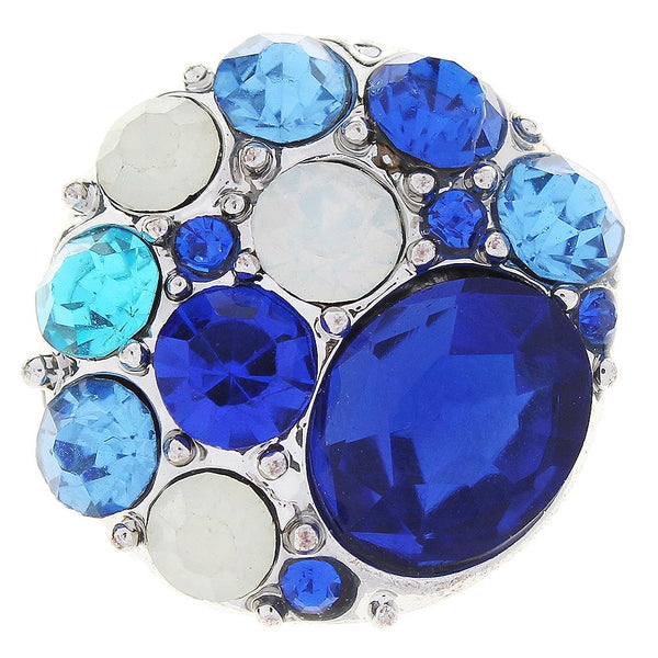 Blue Crystal Sandy Snap Button