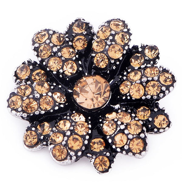 Spectacular Citrine Flower Sandy Snap Button