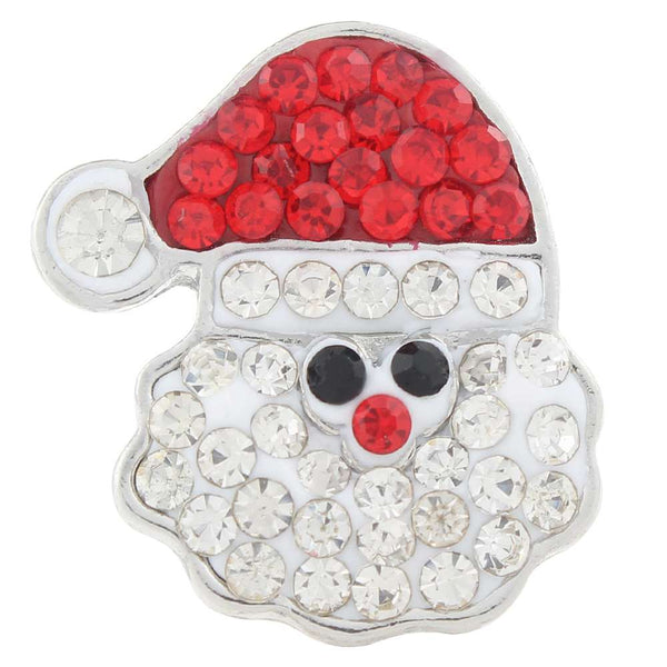 Christmas Santa Claus Rhinestone Sandy Snap Button