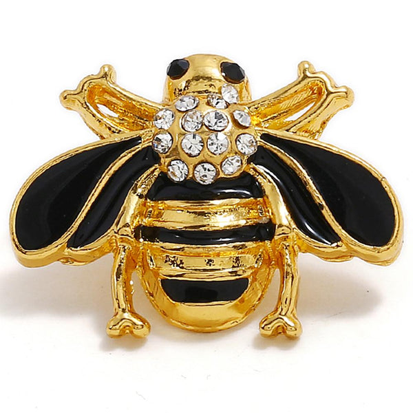 Golden Animal Honeybee Sandy Snap Button