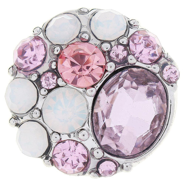 Pink Crystal Sandy Snap Button