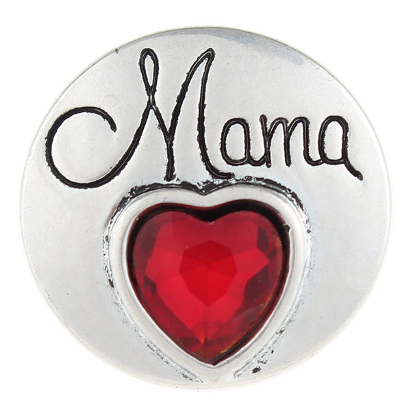 Mama Love With Ruby Stone Sandy Snap Button