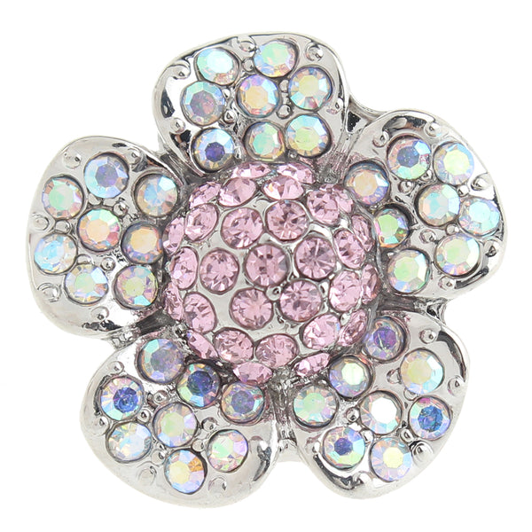 Crystal Flower Sandy Snap Button