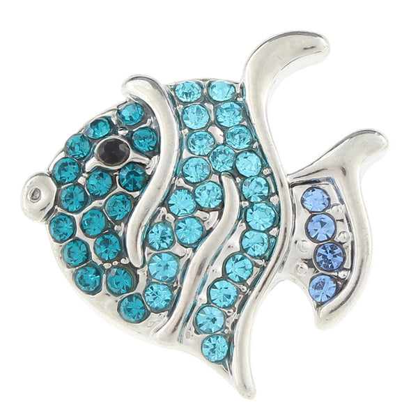 Beautiful Blue Fishy Sand Snap Button