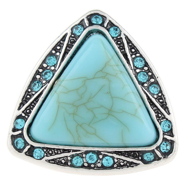 Turquoise Triangle Sandy Snap Button