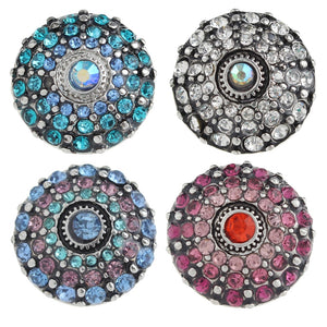 Crystal Sandy Snap Charm Buttons