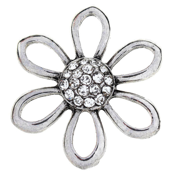 20mm Design Art Hollowed Flower Sandy Snap Button
