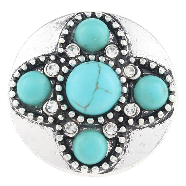20mm Turquoise Color Stones Sandy Snap Button