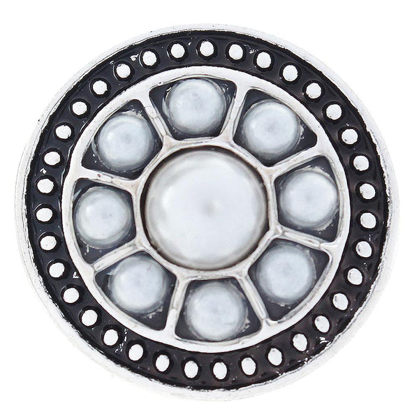 20mm White Pearl Sandy Snap Button