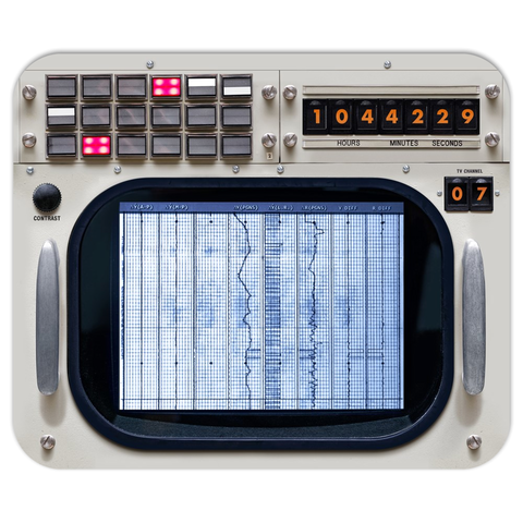 Apollo Mission Control Console Mousepad MOCR 3/4