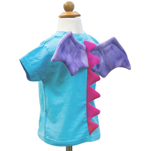 Dragon shirt - Sky Blue with Dragon Spikes and Wings