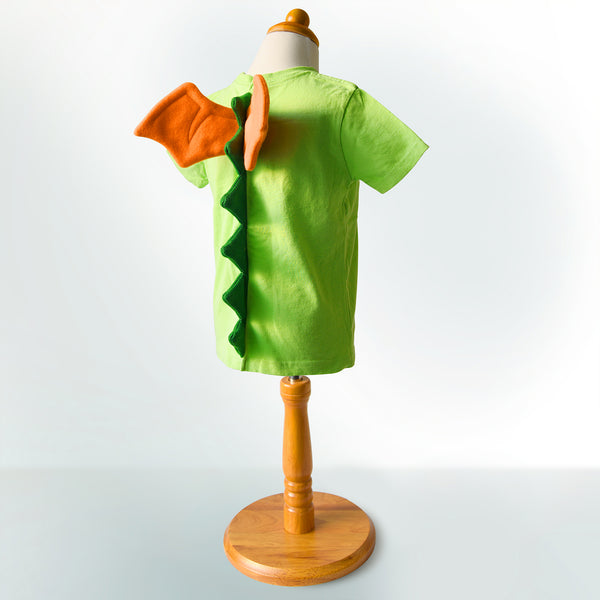 Dragon shirt - Lime Green with Dragon Spikes and Wings