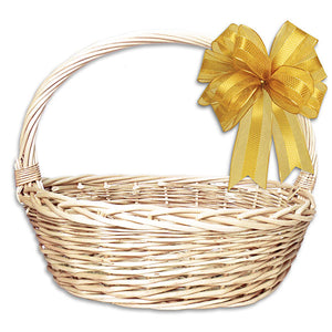 Large White Oval Basket